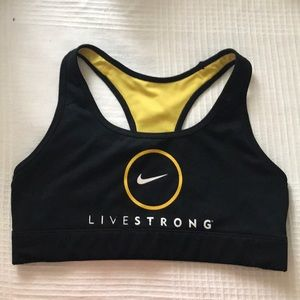 Limited Edition Livestrong Nike Sports Bra